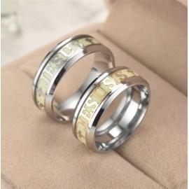 Jesus Fluorescent Ring - Stainless Steel