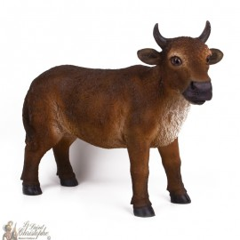 Stand-up colored beef for Christmas crib - 40 -50 cm
