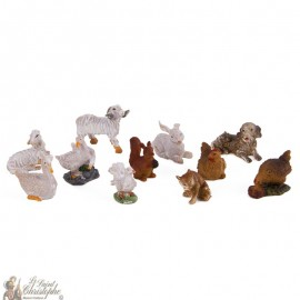 Animals figurines for Christmas crib - 11 pc