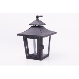 Black wrought iron lantern