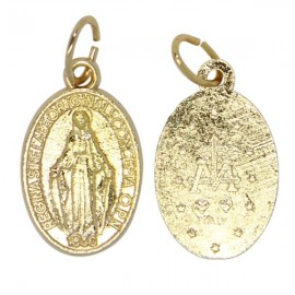 Miracolosa Medaglia Vergine in metallo dorato