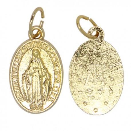 Miraculous Virgin Medal gilded metal