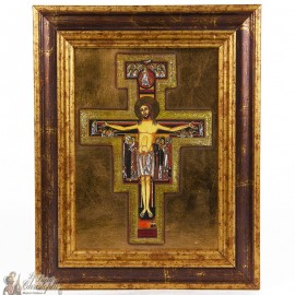 Icon frame cross St. Francis 21 x 27cm