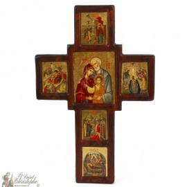 Antiquité Icône croix 34 x 24 cm