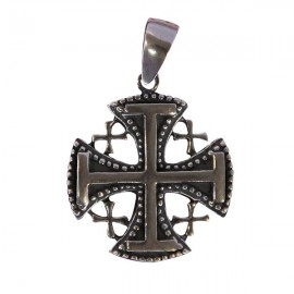 Pendant Jerusalem cross - genuine Silver 925