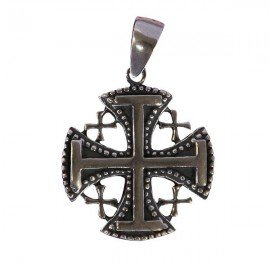 Pendant Jerusalem cross - genuine Silver 925