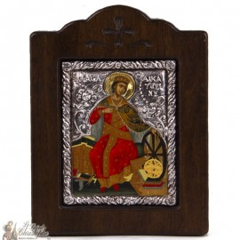 Holy Icon 13 x 17 cm - 950 silver and 24k gold plated