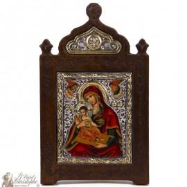 Virgin Icon 13 x 21 cm - 950 silver and 24k gold plated