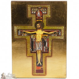 Icon frame cross St. Francis 14 x 20cm