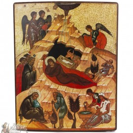 Nativity Icon of the Lords of the 15th century
