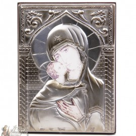 Silver Virgin Icon
