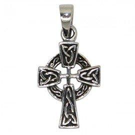 Celtic cross pendant - genuine 925 silver