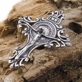 Cross pendant - genuine 925 silver