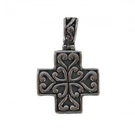 Cross pendant - genuine 925 silver