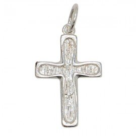 Stylized cross pendant - genuine 925 silver
