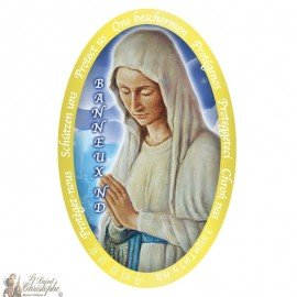 Stickers Virgin of the Poor of Banneux N.D  - 4.5 x 7.5 cm