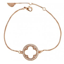 Elegant bracelet with pink gold plating