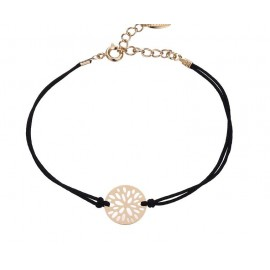 Elegant flower bracelet - 18 K gold plated