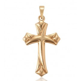 Cross pendant - 18K gold plated