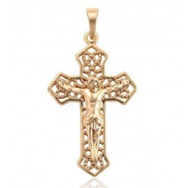 Pendant cross of the south - 18 K gold plated