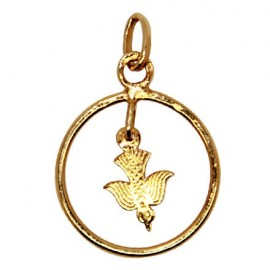 Peace dove pendant - gold plated