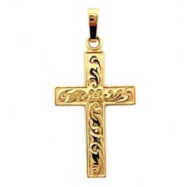 Ciondolo croce - placcato oro