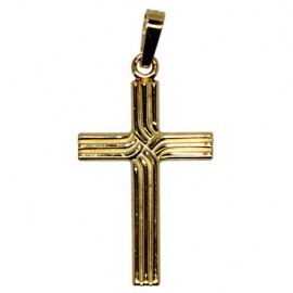 Cross pendant - gold plated