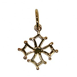 Pendant cross Occitane - gold plated