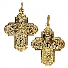 Cross pendant - gold plated