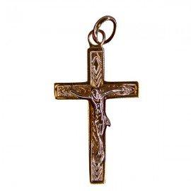 Christ cross pendant - gold plated