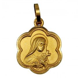 Medal of the Holy Rita - Gold plated