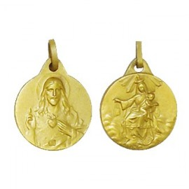 Scapular Medal - Gold plated