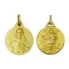 Scapular Medal - Gold plated