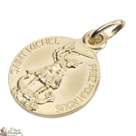 Médaille St Micheal - Gold plated