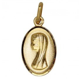 Virgin Mary Medal - Gold plated