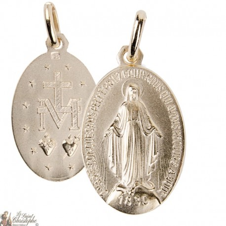 Miraculous Virgin Medal - Gold plated