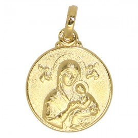 Virgin Mary of the Perpetual Help Medal - Gold plated