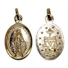 Medalla de la Virgen Milagrosa - Chapada en oro