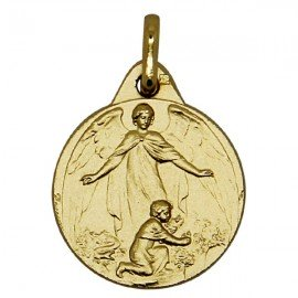 Guardian Angel Medal - Gold plated