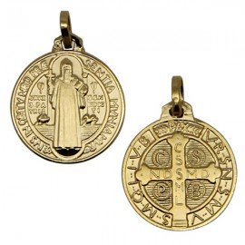 Saint Benedict Medal - gold plated