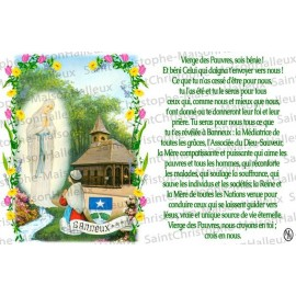 Virgin Card of the Poor of Banneux N.D. prayer - magnet