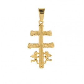 Caravaca cross pendant - 24 k gold plated