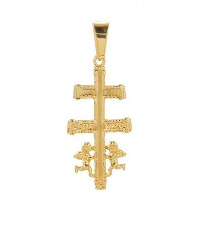 Caravaca cross pendant - 24 k gold plated