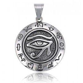 Pendant eye of Horus - stainless steel