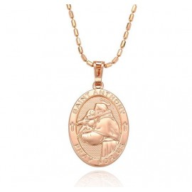 Necklace with pendant medal of St. Anthony