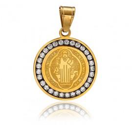 St. Benedict Swarovski Synthetic Medal