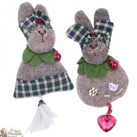 Coniglio decorativo da appendere