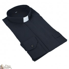 Camicia prete nera maniche lunghe