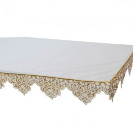 Altar cloth embroidered with lace on 3 sides