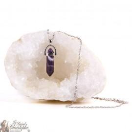 Ciondolo - Collana in pietra ametista